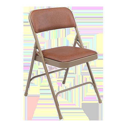 Vinyl Upsholstered Folding Chair Brown Beige Hmc Display